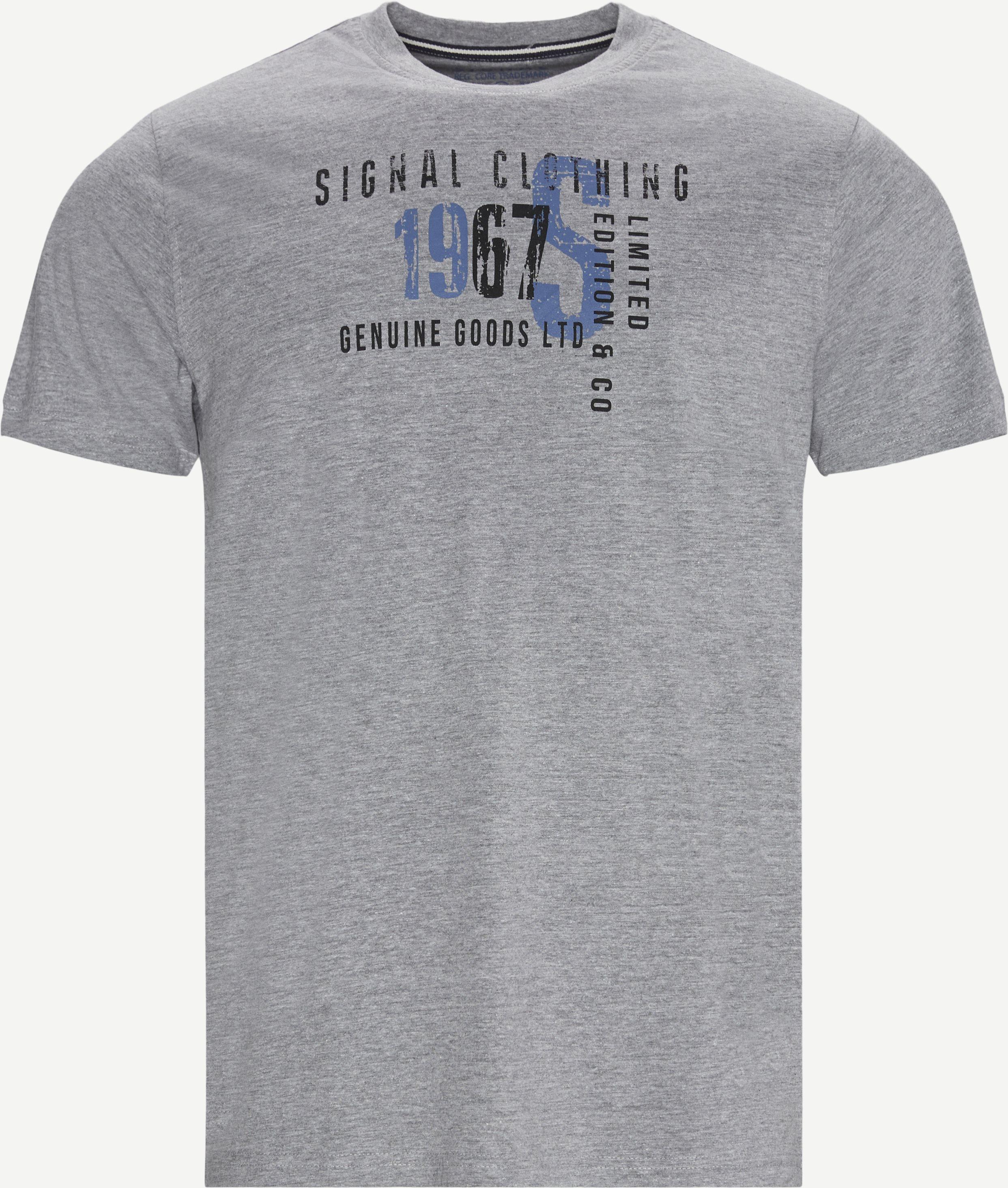 T-Shirts - Regular fit - Grau